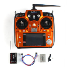 RadioLink AT10II 2.4Ghz 10CH RC Transmitter + R10DII Receiver PRM-01 Voltage Return Module for RC Quadcopter Heli Mode 2