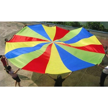 Kid Play Sturdy Parachute Canopy With Handles Exercise Sport Game 300cm diameter(China)