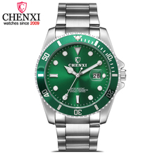 CHENXI Fashion Luxury Men Watch Date Clock Mans Stainless Steel Band Wristwatches Men's Sports Quartz Watches relogio masculino(China)
