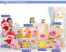 stuffed toy fruits design Mcdull pig Plush toy soft pig doll pillow toy ,baby toys , birthday gift p9043(China)