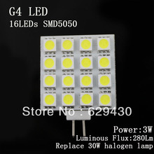 Wholesale - Free Shipping 120deg Lamp Spotlight bright high power 3W SMD5050 16LEDs led 12 volt lights