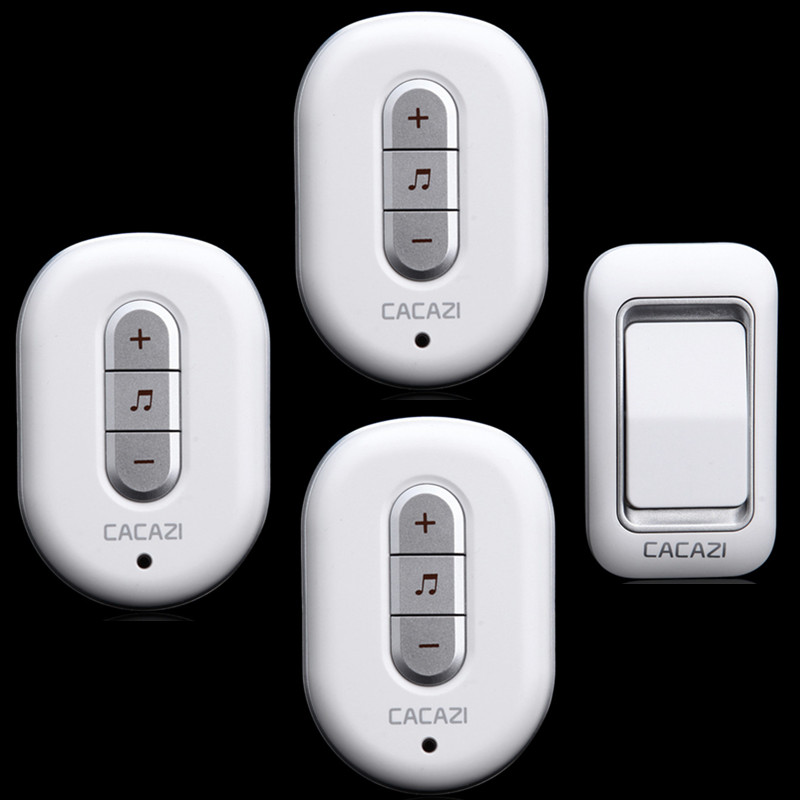 two color to choice 1 waterproof button+3 receivers plug-in Ac 110-220V 300m remote home wireless doorbell<br><br>Aliexpress