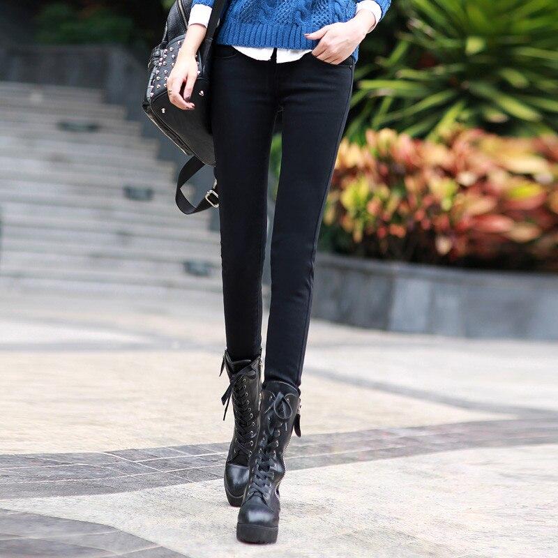 Plus Velvet Thicker Women Jeans Warm High Waist Trousers Cowboy Pants Stretch Denim Jeans Pants Winter Pencil Jeans C1495