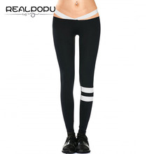 Buy Realpopu 2017 Summer Striped Fitness Legging Cross High Waist Elastic Workout Adventure Time Push Skinny Leggings Women Pants for $11.46 in AliExpress store