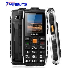 Uhans V5 life Waterproof shockproof phone Power bank Dual sim GSM cellphone 2500Mah Big box speaker Led Flashlight Mobile phone