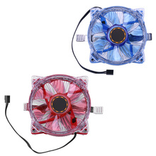 25 LED Blue Red Light CPU Cooling Fan Computer Cooling Fan Replacement Cooler Fans Universal Buckle for PC Computer CPU(China)