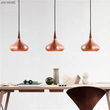 JW_Nordic LED French Lid Round Ikea Lighting Pendant Lights Aluminum Pendant Lamps for Restaurant Bedside Lamp Dining Room Decor(China)