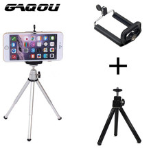 Tripod + Clip Stand Bracket Holder Mount Adapter For Gopro Digital Camera Self-Timer Smart phone For iphone Samsung Mobile Phone