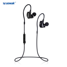 Buy SowakQ5 bluetooth headphones IPX5 waterproof wireless headphone sports bass bluetooth earphone mic phone iPhone xiaomi for $21.99 in AliExpress store