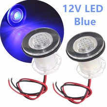1PC IP68 Blue/White Boat Marine Ship RV Waterproof 12V LED Courtesy Light Lamp for Boats Truck Car(China)