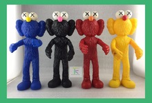 2017 Kaws Thailand Bangkok Exhibition Sesame Street Kaws BFF PVC Doll Toy Collections without retail box(China)