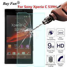 Screen Protector Tempered Glass For Sony Xperia C S39h 2305 C2304 C2305 S39 2.5D Phone Premium Protective Film Case Guard