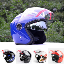 2014 New for Yohe 856 Motorcycle Helmet For Half Face Double Visors Quality ABS Road Racing Top Safety High Protective capacete