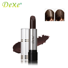 Dark Brown DEXE Temporary Hair Dye Hair Color Stick Hair Coloring Cream Products To Conceal The Gray Root Cover Up(China)