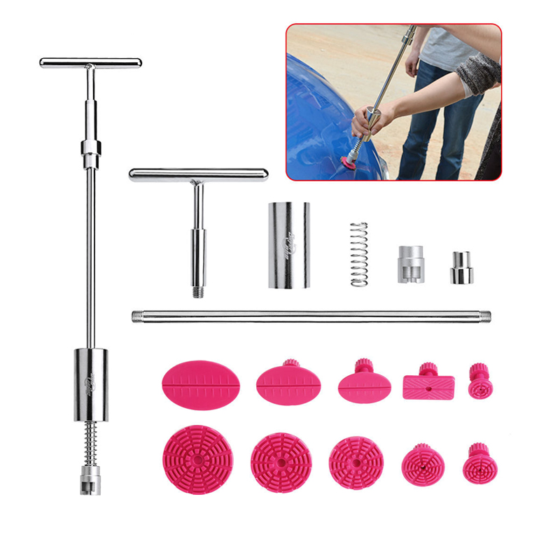 PDR Tools Kit Ferramentas Dent Removal Paintless Dent Repair Tools Dent Puller Slide Hammer Glue Tabs Suction Cup Suckers PDR<br>