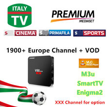 [Android6 V88 mini TV Box] 3/6/12 Month Warranty IPTV M3U ENIGAM2 IPTV ITALY  IT ITALY MEDIASET PREMIUM PRIMAFILA VOD USB Wifi 1