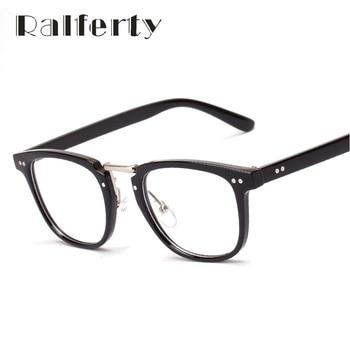 Ralferty Vintage Retro Armações de Óculos oliver peoples Rebite Vidros do Olho Quadro Com Lente Clara Oversized oculos de grau 2496