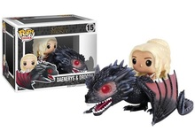 Funko POP Game of Thrones Figures Dragon & Daenerys Rides Dragon Action Figure With Box
