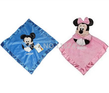 Mickey Minnie Plush Infant Toys Soft Appease Towel Newborn Baby Hand Towels for Kids 35*35CM