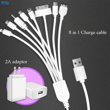 Biosafe 8 In 1 USB Digital Power Cables 1M Multifunctional 2A Power Adaptor Android Phone for Huawei for Samsung for Iphone(China)
