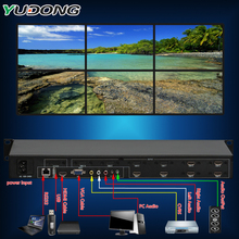 YD-TV06 Video Wall Controller six Channel HDMI VGA AV Video Processor 2x3 3x2 2x2 Six images stitching image processor