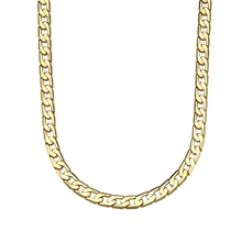 Hip Hop Mens Necklace Curb Cuban Chain Gold Filled Jewelry Party Daily Wear(China)
