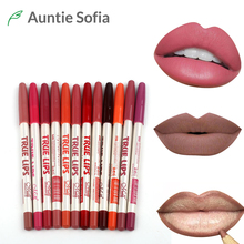 12 Colors Lip Pencil Set Matte Crayon Levre Lip liner Pigment Red Waterproof  Lip Contour Kit  Nude Lip Stick Makup Cosmetics