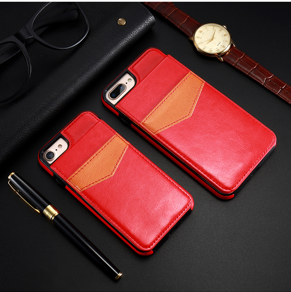 crazy horse vertical flip cover for iPhone 6 7 Plus (9)