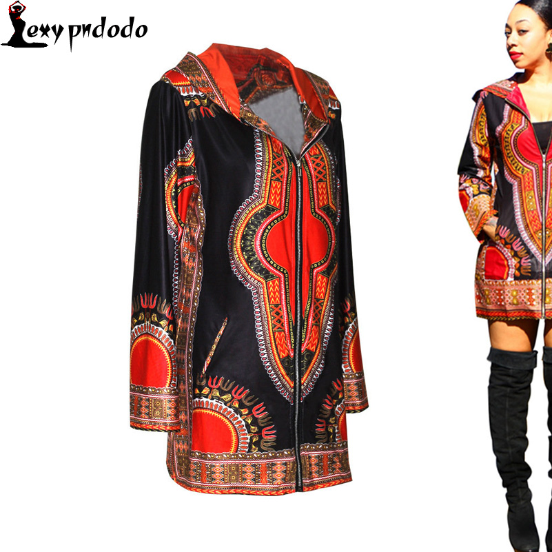 2016 Autumn Women Dashiki Coats + Traditional Hoodies Jacket Plus Size Traditional African Clothing Chaquetas Mujer Long Sleeve