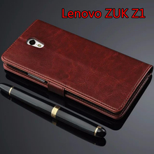 Lenovo ZUK Z1 Case Luxury Flip Wallet Genuine Leather Cover Case for Lenovo ZUK Z1 With Stand Function Card Holders Black Brown
