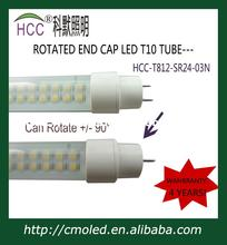 newest 1200mm 24W rotatable end cap T10 LED Tube(China)