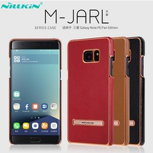 Nillkin For Galaxy Note FE Case Cover PU Leather Stand Cover For Galaxy Note Fan Edition Case Car Magnetic Protective Shield(China)