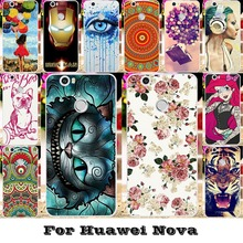 Silicone Plastic Phone Cover Cases For Huawei Nova CAN-L12 CAN-L11 CAN-L01 CAN-L02 Cat Tiger Housing Bag For Huawei Nova Case