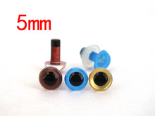 5mm toy eyes kit---brown and blue and gold color each color 10pairs for  teddy bear eyes