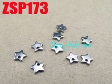 Small five-pointed star stainless steel  pandent necklace accessories jewelry DIY parts 200PCS ZSP173