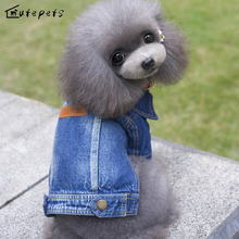Factory price Dog Clothes jeans jacket coat Cat Pet Clothes For Chihuahua/yorkshire /Pomeranian