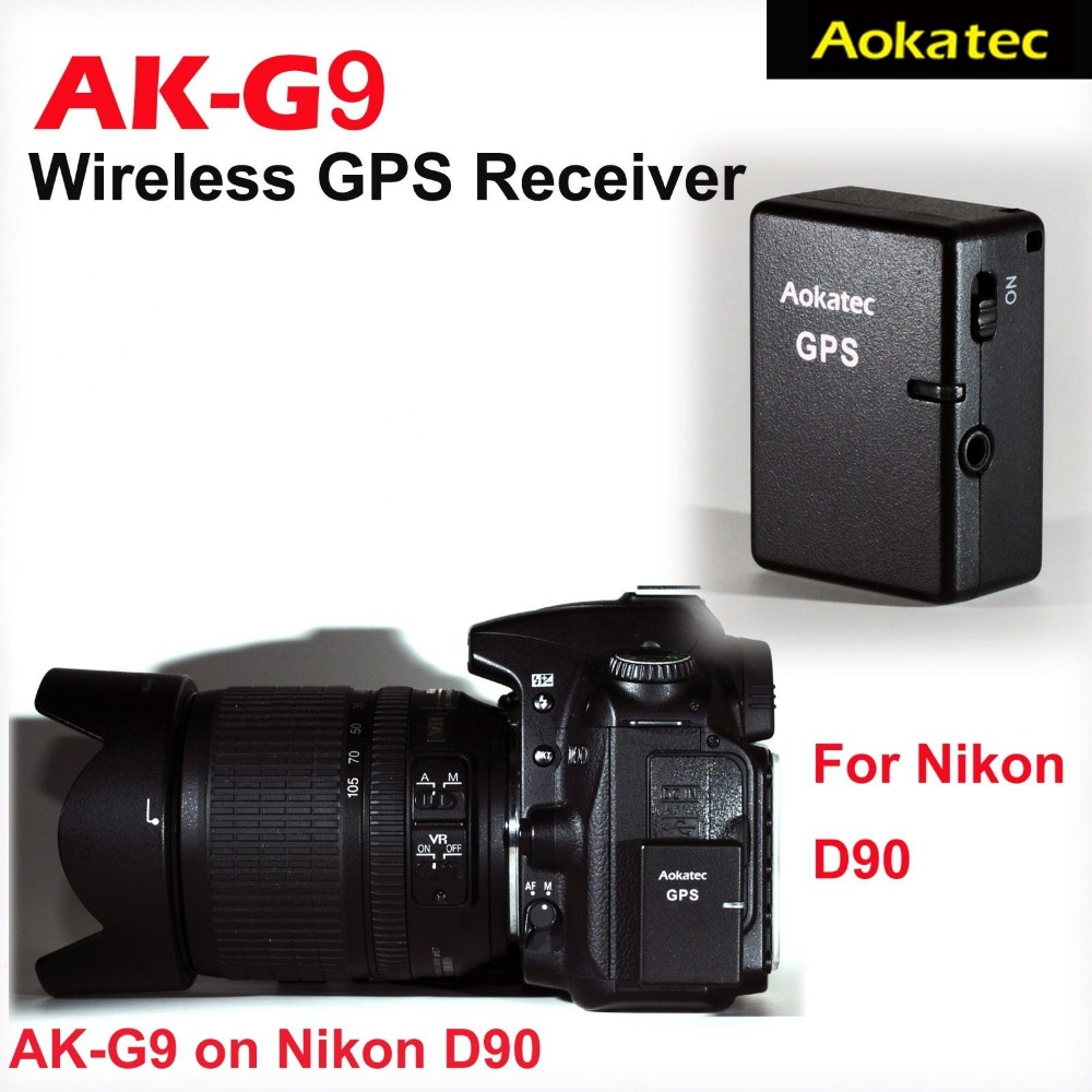 Aokatec AK-G9 GPS Receiver Wireless for Nikon DSLR Camera D90<br><br>Aliexpress