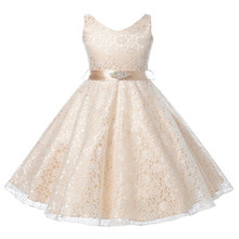 Summer Teenagers 4-16 yrs Girls party dresses kids 2017 Flower children girls lace elegant wedding birthday Princess clothing
