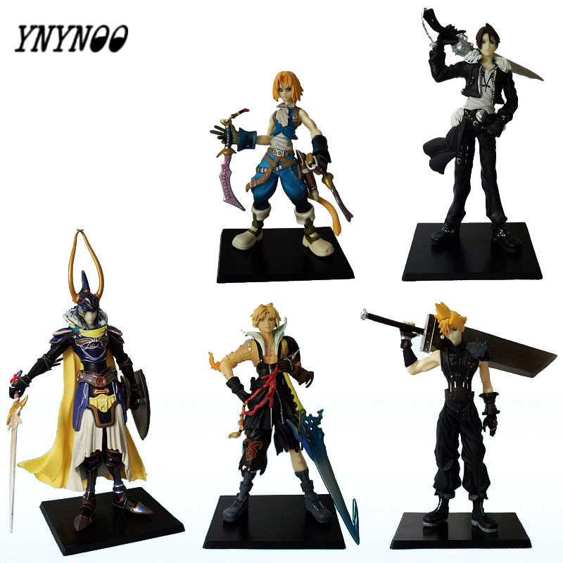 YNYNOO 5 Pcs/lot Anime Final Fantasies Action figure Final of Fantasy Action &amp; Toys Figure PVC Collectible Model Toy AF103<br>