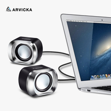 ARVICKA Wire Mini PC Speakers Music USB 2.0 Stereo Portable Computer Speaker for Laptop Desktop Notebook HiFi Multimedia Speaker(China)