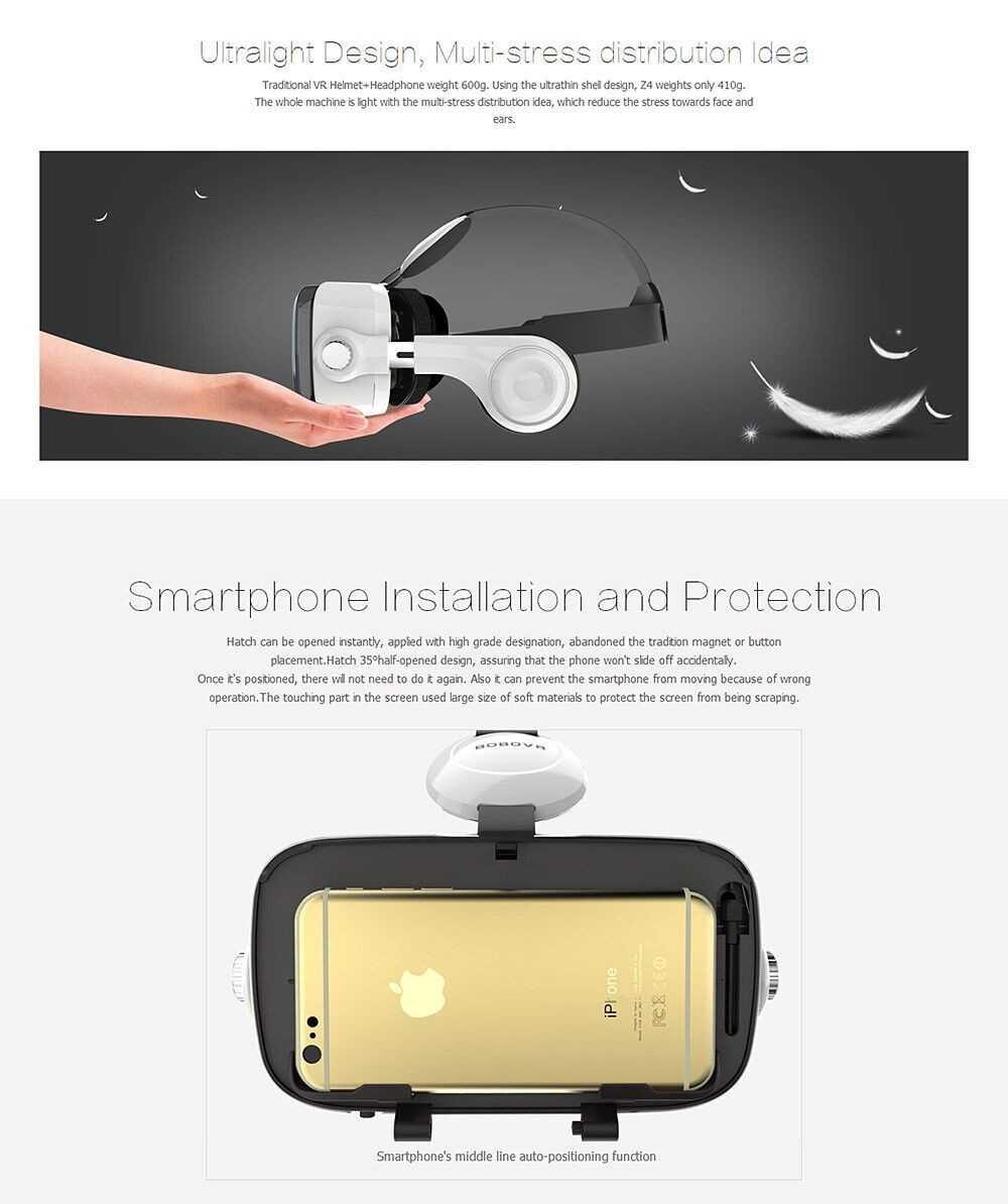 Virtual Reality Google Cardboard VR BOX Original bobovr Z4/ Z4 Mini 3D glasses+Bluetooth Controller for 4-6' Smart Mobile Phone 18
