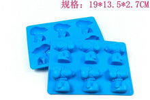 Tiny DIY Tools Snoopi Silicone 6 Man and Woman Cute Dog shaped Silica gel Mold Mould Molding For Home Baking
