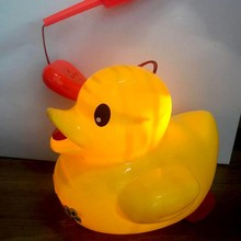 LED Lighting Duck Toy Children Pull Lantern Toys For Kids Cute Duck Shape Noise Gifts For Kid(China)