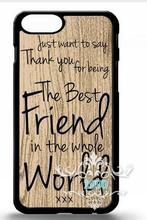 best friend BFF cute quote gift cell phone case cover for Iphone 4S 5 5S 5C 6 Plus for Samsung galaxy S3 S4 S5 S6 Note 2 3 4