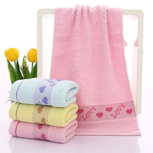 High quality Cotton LOVE Peach Heart Face Towel Bathroom Face Absorbent Drying Cloth