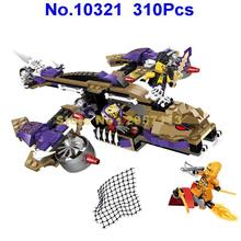 10321 310pcs Ninja Mecha Robot Anaconda Predators Helicopter Bela Building Block Compatible 70746 Brick Toy(China)