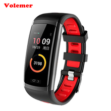 Buy Volemer Smart Band Bracelet CD09 Blood Pressure Heart Rate Sleep Monitor Fitness Tracker Wristband Color Screen Pk mi band 2 Y1 for $22.38 in AliExpress store