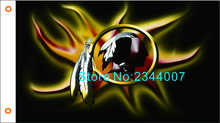 Washington Redskins logo with the Stars and Stripes US flag 3FTx5FT 100D polyester banner