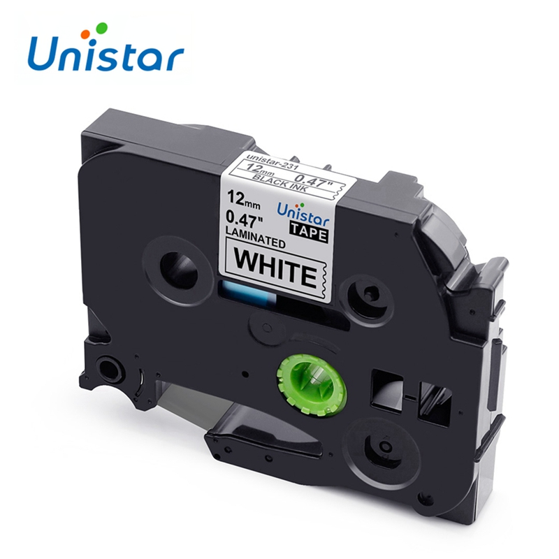 Unistar Label-Maker PT-H110 PT-D600 PT-1000 Tze-231 12mm Compatible with Multicolor  title=