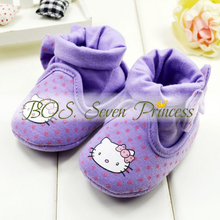[Bosudhsou] Very Cute children's shoes ankle socks shoes Baby hello kitty Shoes soft sole shoe Baby pre-walkers Clothing lk064